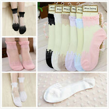 Vintage Lace Ruffle Frilly Ankle Socks Fashion Ladies Princess Girl 5 Colors U