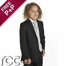 Boys Black & Silver Suit, Page Boy Suits, Boys wedding Suits, 1 - 14 years