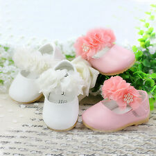 New Baby Girls Christening Shoes in White, Pink from 3-6 Months to 18-24 Months