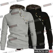 Mens New Long Sleeve Casual Pullover Hoodie Hooded Sweatshirt Coat Size XSM-XXXL