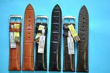 WATCH BAND LOUSIANA ALLIGATOR CROCODILE BIG TEXTURE MADE in GERMANY