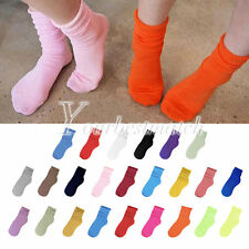 NEW Fluorescent Fashion Women's Cotton Natural Curling 24 Candy Colored Socks