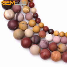 "Natural round frost matte mookaite jasper gemstone beads strand 15"" 6/8/10/12mm"