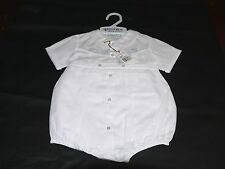 NWT Feltman Bros Brothers Boys Newborn Creeper & Shortall-White/Blue 23938