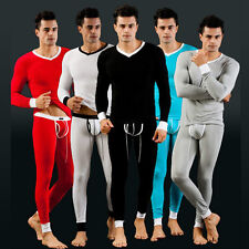 Muscle Men Thermal Set Underwear Long John Long Shirt Modal Fitness Top & Bottom