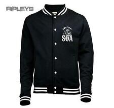 Official SONS OF ANARCHY Black VARSITY Jacket CLASSIC Reaper All Sizes