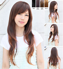 New Fashion Womens Lady Long Wavy Curly Hair Full Wig Wigs Cosplay Party