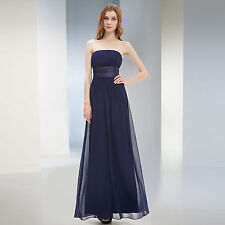 Sexy Strapless Summer  Long Women's Evening Party Bridesmaid Dress 09060