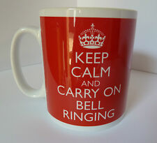 KEEP CALM AND CARRY ON BELL BELLS RINGING GIFT MUG CUP CHURCH CAMPANOLOGY
