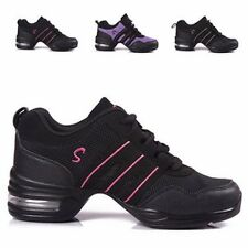 Women Modern Jazz Hip Hop Gym Dance Trainers Split Sole Sneakers Athletic Shoes