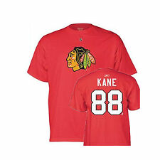 Chicago Blackhawks #88 Patrick Kane Name and Number T-Shirt Reebok Tee