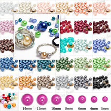 3mm 4mm 6mm 8mm 10mm 12mm 14mm Plexiglass Pearl Loose Spacer Round Bead 31 Color