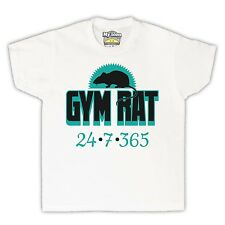 GYM RAT WEIGHTLIFTING WORKOUT EXERCISE FITNESS KIDS T SHIRT TEE ALL SIZES & COLS