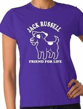 Jack Russell Dog Lovers Pet Ladies Gift T-Shirt Size  S-XXL