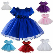 New Party Bridesmaid Flower Girl Dress available in 7 Colours 6 months to 2 Year