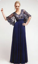 4 COLORS FORMAL OCCASION MOTHER OF BRIDE / GROOM CLASSY EVENING LONG DRESS S-5XL
