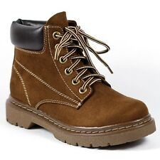Chocolate Brown Lace Up Ankle Work Boot Bootie Soda Tanic