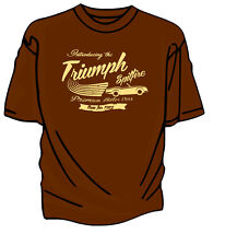 """Introducing The New"" Triumph Spitfire Retro T-Shirt."