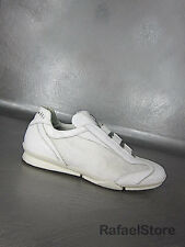 Men's Shoes Sneakers BOTTICELLI Limited Nappa Bianco Leather Canvas White New