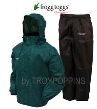 FROGG TOGGS RAIN GEAR-AS1310-109 ALL SPORTS GREEN/BLACK SUIT WET GOLF FISHING