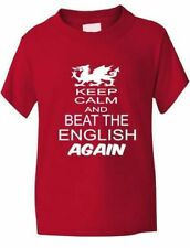 Rugby Wales Welsh Beat The English 6 Nations World Cup Kids T-Shirt Age 1-13