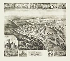 Panoramic Map - Parsons West Virginia - Fowler 1905 - 23 x 26.19