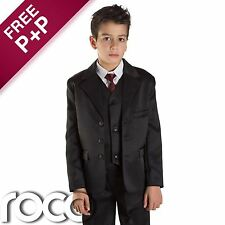 Boys Black Suit, Boys Wedding Suit, Prom Suit, Page Boy Suits, Boys Formal Suits