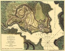 Old War Map - Fort Carillon French and indian War New York 1758 - 23 x 29.30