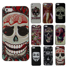 Hot Sale Stylish Skull Hard Snap On Protector Case Cover For Apple iPhone 5/5S