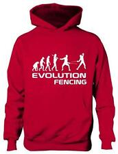 Evolution Of Fencing Sport Boys Girls Kids Hoodie Gift  Age 5-13