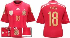 *13 / 15 - ADIDAS ; SPAIN HOME SHIRT SS / AMOR 18 = KIDS & JUNIOR SIZE*