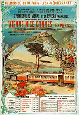 TX122 Vintage Vienne Nice Cannes Express French Railway Travel Poster A2/A3/A4