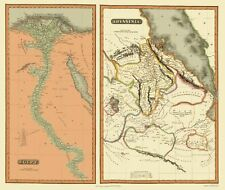 Old Middle East Map - Egypt and Abyssinia - Thomson 1817 - 23 x 27.21