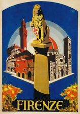 TV39 Vintage 1926 Firenze Florence Italian Italy Travel Poster A1/A2/A3/A4