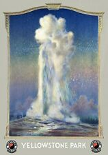 TR36 Vintage 1930's Yellowstone Park Old Faithful America Travel Poster A1/A2/A3