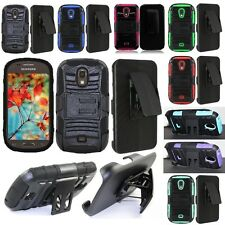For Samsung Galaxy Light T399 Hybrid Cell Phone Case Hard Cover Holster Clip