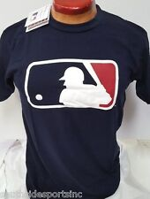 MAJESTIC AUTENTIC MLB LOGO CLUBHOUSE T SHIRT NAVY BLUE NEW WITH TAGS