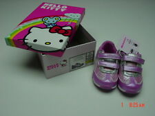 NWT NIB Hello Kitty Girls Fashion Tennis Shoe Toddler Pink Silver Glitter