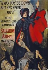 W68 Vintage WWI Salvation Army War Fund Raising Poster Re-Print WW1 A1/A2/A3/A4