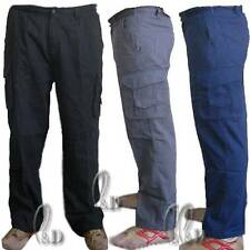 Casual Mans Cargo Work Pants Cotton Drill Workwear Trousers AU SELLER wo003