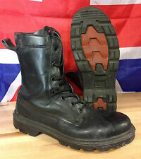 British Army Pro Combat Boots, Black with Steel Toe, Grade 1 Used Condition