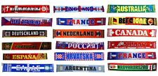 INTERNATIONAL WORLD COUNTRY KNITTED ACRYLIC SCARF SCARVES SOUVENIR GIFT XMAS CUP