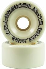White Roller Bones Elite Quad Skate Wheels 57mm 62mm Set of 8