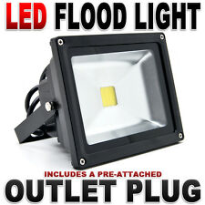10W 20W 30W 50W 100W Day Cool White LED Wall Pack Wash Flood Light Lamp Garden