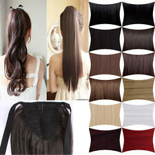 Clip In Ponytail Pony Tail Hair Extension calw/Wrap On Hair Piece special Style