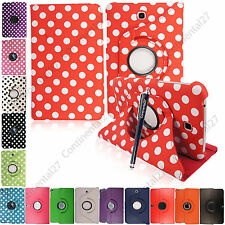 Leather 360 Degree Rotating Stand Case Cover For Various Tablets/Ipad/Tab+Stylus