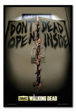 Framed The Walking Dead Keep Out Poster Ready To Hang - Choice Of Frame Colours