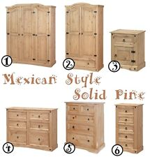 """Aztec"" Mexican Style Solid Wood Pine Bedroom Furniture Range."