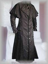 Victorian Brocade Box Coat Vintage Goth Steampunk Pelerine Black Halloween