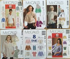 *CLEARANCE* Ladies BLOUSES & TOPS paper patterns : choose from Assorted designs